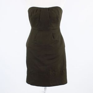 Dark brown J. CREW strapless dress 2P